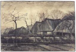 Maisons au toit de chaume aux Pays-Bas en 1884. Source : http://data.abuledu.org/URI/5515bfcb-maisons-au-toit-de-chaume-aux-pays-bas-en-1884
