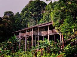 Maisons sur pilotis Sarawak. Source : http://data.abuledu.org/URI/557acb9f-maisons-sur-pilotis-sarawak
