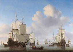 Man'o'war hollandais et autres bateaux par mer calme. Source : http://data.abuledu.org/URI/5493403a-man-o-war-hollandais-et-autres-bateaux-par-mer-calme
