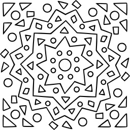 Mandala à colorier. Source : http://data.abuledu.org/URI/5330ce7a-mandala-a-colorier