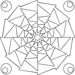Mandala à colorier. Source : http://data.abuledu.org/URI/5330ced8-mandala-a-colorier