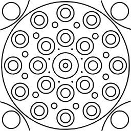 Mandala à colorier. Source : http://data.abuledu.org/URI/5331367e-mandala-a-colorier