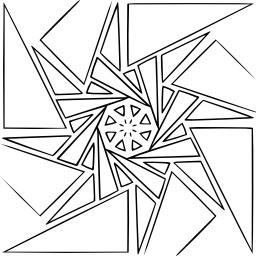 Mandala à colorier. Source : http://data.abuledu.org/URI/53313779-mandala-a-colorier