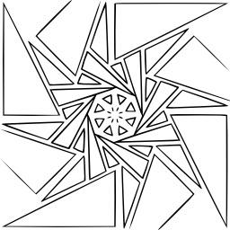 Mandala à colorier. Source : http://data.abuledu.org/URI/53313779-mandala-a-colorier