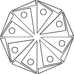 Mandala à colorier. Source : http://data.abuledu.org/URI/533137f8-mandala-a-colorier