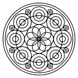 Mandala à colorier. Source : http://data.abuledu.org/URI/53313ca1-mandala-a-colorier