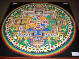 Mandala de sable à Londres en 2008. Source : http://data.abuledu.org/URI/529e6365-mandala-de-sable-a-londres-en-2008