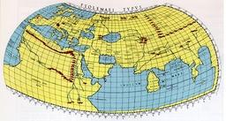 Mappemonde de Ptolémée. Source : http://data.abuledu.org/URI/5068bfb5-mappemonde-de-ptolemee