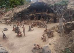 Maquette d'un village guanche à Tenerife. Source : http://data.abuledu.org/URI/52d1820c-maquette-d-un-village-guanche-a-tenerife