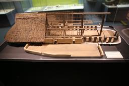 Maquette d'une habitation gauloise. Source : http://data.abuledu.org/URI/5558ceac-maquette-d-une-habitation-gauloise