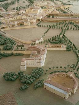 Maquette de la Villa Adriana en Italie. Source : http://data.abuledu.org/URI/591bcf95-maquette-de-la-villa-adriana-en-italie