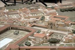 Maquette de la Villa d'Hadrien à Rome. Source : http://data.abuledu.org/URI/591bcf35-maquette-de-la-villa-d-hadrien-a-rome