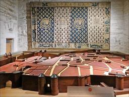 Maquette de Nantes au Moyen Âge. Source : http://data.abuledu.org/URI/541c9b7d-maquette-de-nantes-au-moyen-age