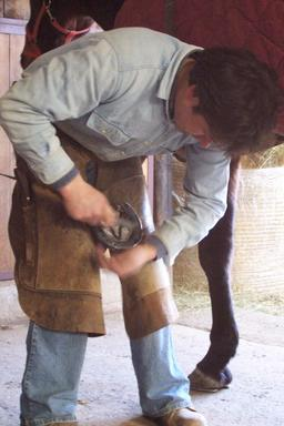 Maréchal-ferrant au travail. Source : http://data.abuledu.org/URI/52e8daa7-marechal-ferrant-au-travail