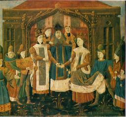 Mariage de Sigebert Ier et Brunehaut. Source : http://data.abuledu.org/URI/522a594d-mariage-de-sigebert-ier-et-brunehaut