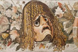 Masque d'acteur tragique romain. Source : http://data.abuledu.org/URI/50393fad-masque-d-acteur-tragique-romain