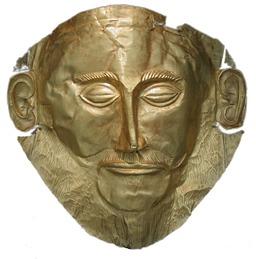 Masque d'Agamemnon. Source : http://data.abuledu.org/URI/5120fd2f-masque-d-agamemnon