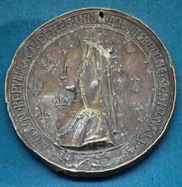 Médaille d'Anne de Bretagne en 1499. Source : http://data.abuledu.org/URI/538ee177-medaille-d-anne-de-bretagne-en-1499