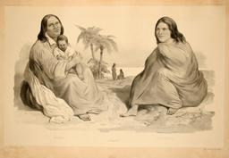 Mélanésiennes en 1838. Source : http://data.abuledu.org/URI/598071c2-melanesiennes-en-1838