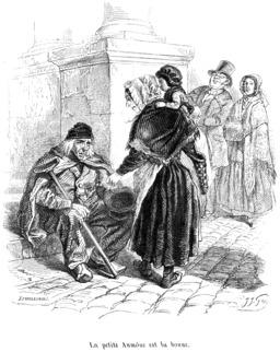 Mendicité en ville en 1845. Source : http://data.abuledu.org/URI/53501719-mendicite-en-ville-en-1845