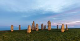 Menhirs du Parc de La Torre à La Corogne. Source : http://data.abuledu.org/URI/570158b2-menhirs-du-parc-de-la-torre-a-la-corogne