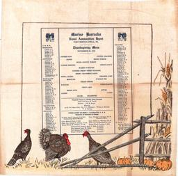 Menu de Thanksgiving en 1918. Source : http://data.abuledu.org/URI/5642ff17-menu-de-thanksgiving-en-1918