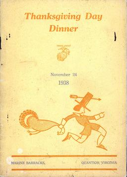 Menu de Thanksgiving en 1938. Source : http://data.abuledu.org/URI/5642ffab-menu-de-thanksgiving-en-1938