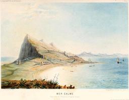 Mer calme à Gibraltar en 1866. Source : http://data.abuledu.org/URI/5943cadd-mer-calme-a-gibraltar-en-1866
