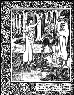 Merlin, Arthur et l'épée d'Excalibur. Source : http://data.abuledu.org/URI/52adf548-merlin-arthur-et-l-epee-d-excalibur