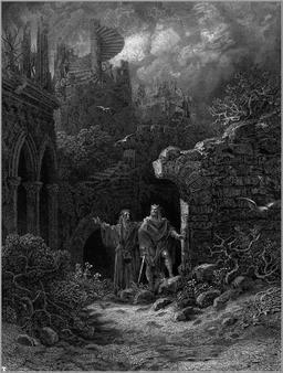 Merlin conseillant le roi Arthur. Source : http://data.abuledu.org/URI/52adee94-merlin-conseillant-le-roi-arthur