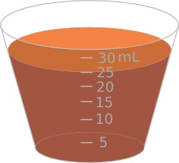 Mesure d'un volume de 25ml. Source : http://data.abuledu.org/URI/530cd67f-mesure-d-un-volume-de-25ml