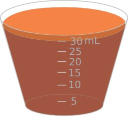 Mesure d'un volume de 30ml. Source : http://data.abuledu.org/URI/530cd7d1-mesure-d-un-volume-de-30ml