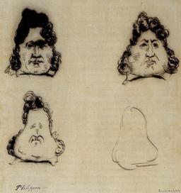Métamorphose de Louis-Philippe en poire. Source : http://data.abuledu.org/URI/51ee4ccb-metamorphose-de-louis-philippe-en-poire