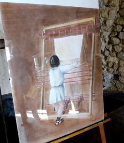 Métier à tisser de la villa gallo-romaine de Loupiac-33. Source : http://data.abuledu.org/URI/599ab318-metier-a-tisser-de-la-villa-gallo-romaine-de-loupiac-33