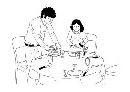 Mettre la table. Source : http://data.abuledu.org/URI/5026cefd-mettre-la-table