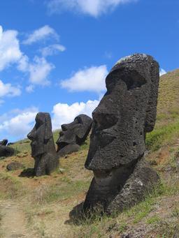 Moaïs de Rano raraku. Source : http://data.abuledu.org/URI/54ecf239-moais-de-rano-raraku