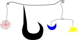 Mobile à la manière de Calder. Source : http://data.abuledu.org/URI/541e8fe7-mobile-a-la-maniere-de-calder