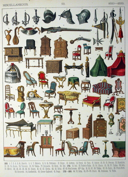 Mobilier du dix-septième et du dix-huitième siècle. Source : http://data.abuledu.org/URI/5309f24e-mobilier-du-dix-septieme-et-du-dix-huitieme-siecle