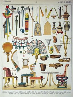 Mobilier égyptien ancien. Source : http://data.abuledu.org/URI/530b4005-mobilier-egyptien-ancien