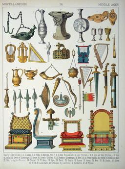Mobilier médiéval. Source : http://data.abuledu.org/URI/530b8352-mobilier-medieval