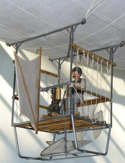 Modèle d'aéronef Daimler de 1888.. Source : http://data.abuledu.org/URI/5288bf95-modele-d-aeronef-daimler-de-1888-