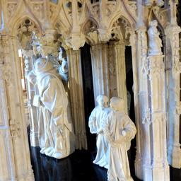 Moinillons du tombeau des ducs de Bourgogne au musée des beaux-arts de Dijon. Source : http://data.abuledu.org/URI/59d6a997-moinillons-du-tombeau-des-ducs-de-bourgogne-au-musee-des-beaux-arts-de-dijon