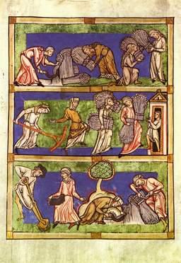 Moisson au Moyen Age. Source : http://data.abuledu.org/URI/50cb1b03-moisson-au-moyen-age