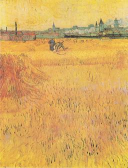 Moisson près d'Arles. Source : http://data.abuledu.org/URI/51c93cc3-moisson-pres-d-arles