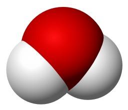 Molécule d'eau en 3D. Source : http://data.abuledu.org/URI/52756797-molecule-d-eau-en-3d