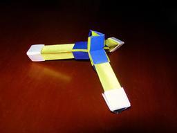 Molécule de l'ammoniac en origami. Source : http://data.abuledu.org/URI/52f25fca-molecule-de-l-ammoniac-en-origami