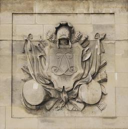 Monogramme de Louis XIV. Source : http://data.abuledu.org/URI/53e28391-monogramme-de-louis-xiv