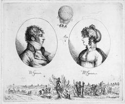 Monsieur et Madame Garnerin en 1803. Source : http://data.abuledu.org/URI/5399c707-monsieur-et-madame-garnerin-en-1803