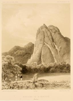 Montagne de la Menchiri en Nouvelle-Guinée en 1838. Source : http://data.abuledu.org/URI/5981667a-montagne-de-la-menchiri-en-nouvelle-guinee-en-1838