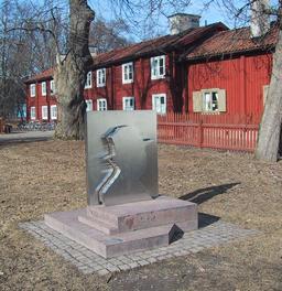 Monument de l'écrivain suédois Hjalmar Bergman. Source : http://data.abuledu.org/URI/52b955c5-monument-de-l-ecrivain-suedois-hjalmar-bergman